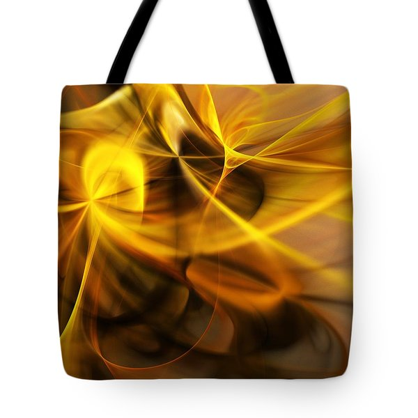 Gold And Shadows Tote Bag