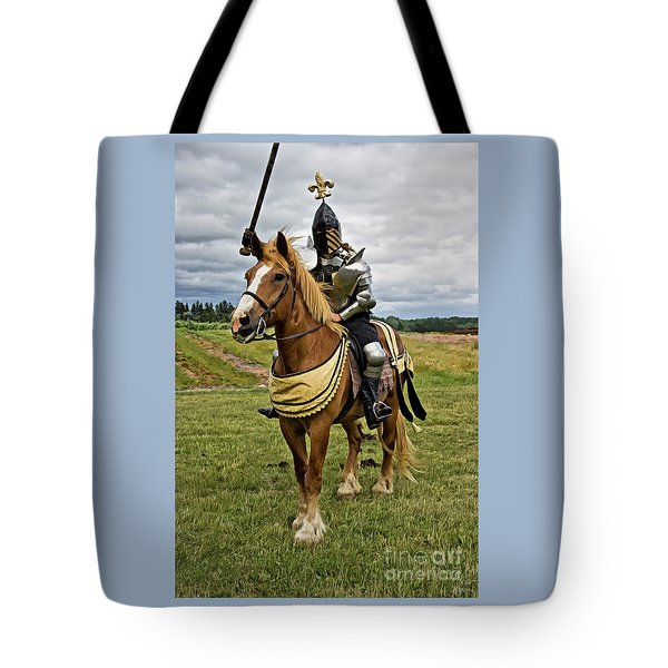 Gold And Silver Knight Tote Bag