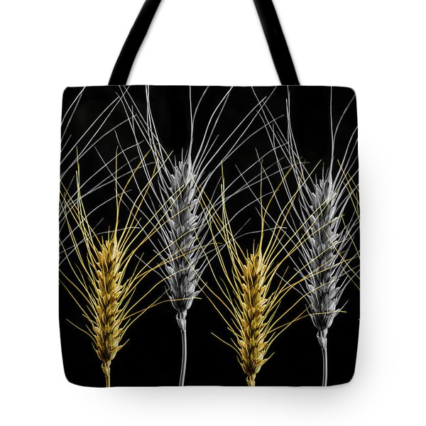 Gold And Silver Wheat Tote Bag