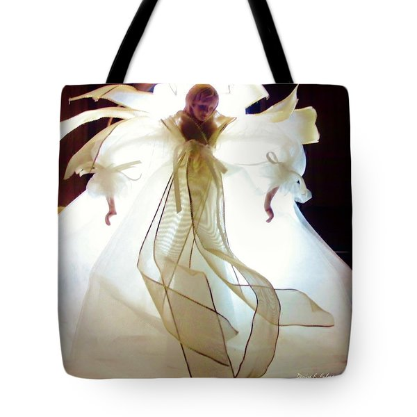 Gold And White Angel Tote Bag