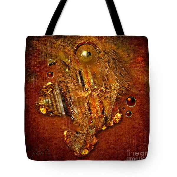 Gold Angel Tote Bag