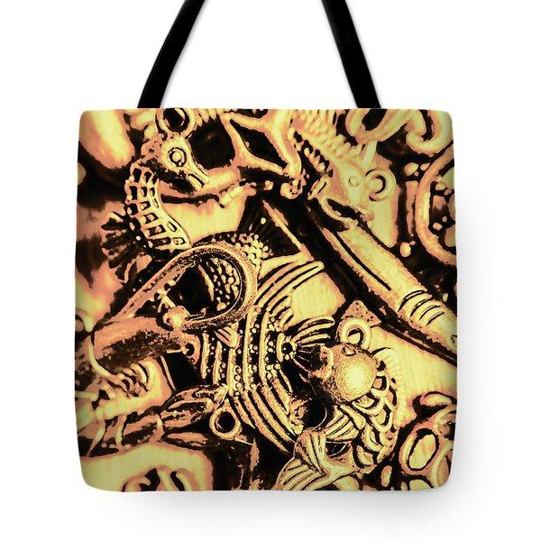 Gold Aquarium Tote Bag