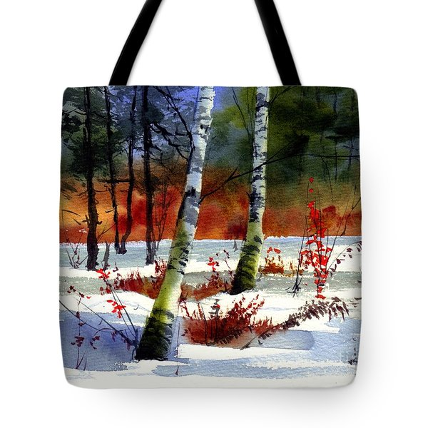 Gold Bushes Watercolor Tote Bag