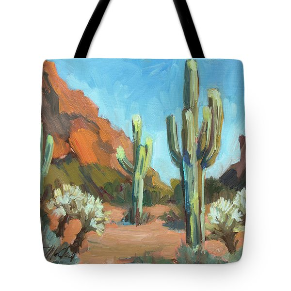 Tote Bag featuring the painting Gold Canyon by Diane McClary