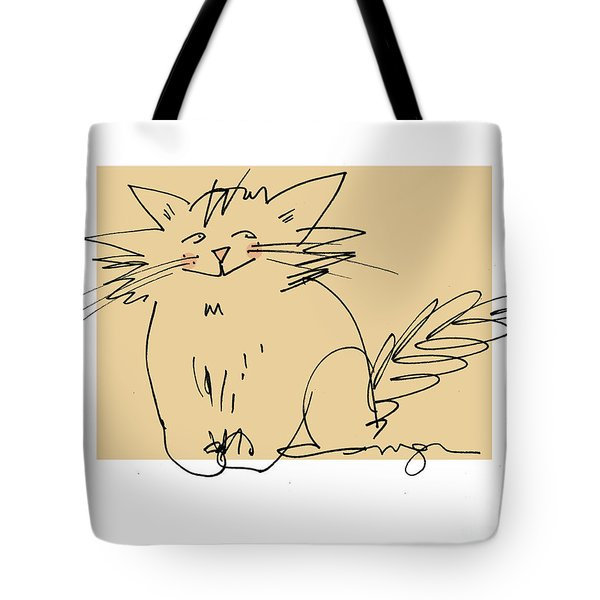 Gold Cat Tote Bag