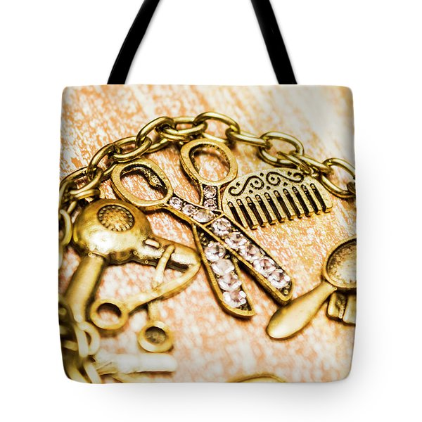 Gold Class Hair Styling Background Tote Bag
