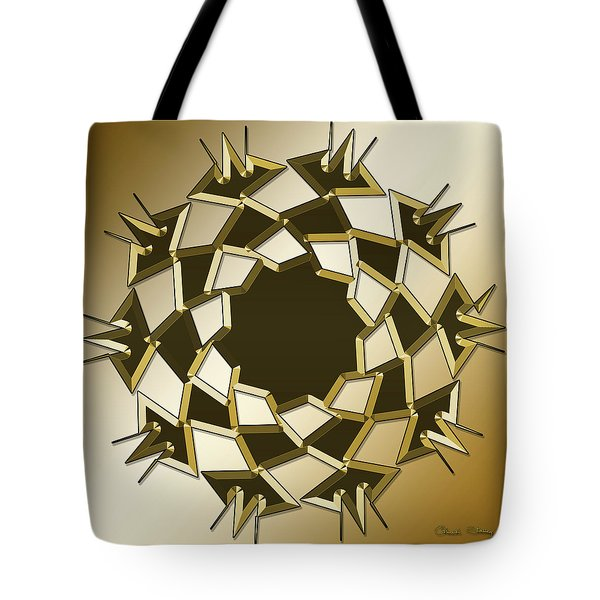 Tote Bag featuring the digital art Gold Coffee 10 by Chuck Staley