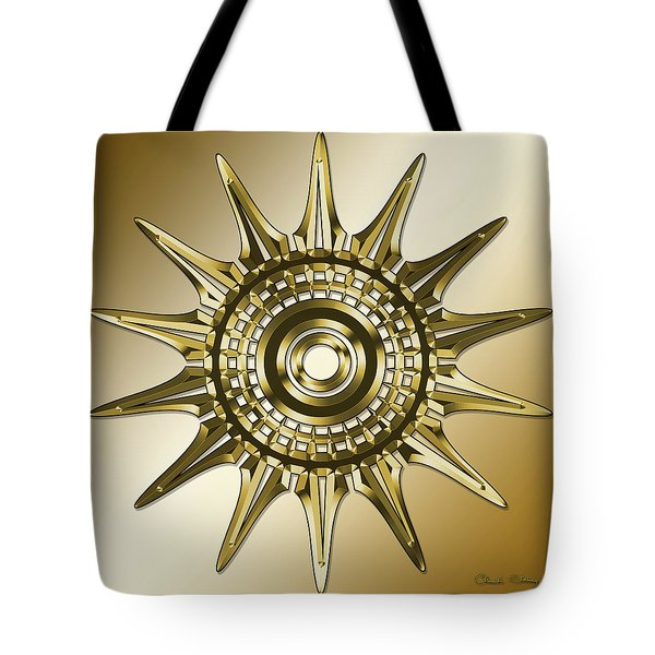 Tote Bag featuring the digital art Gold Coffee 11 by Chuck Staley