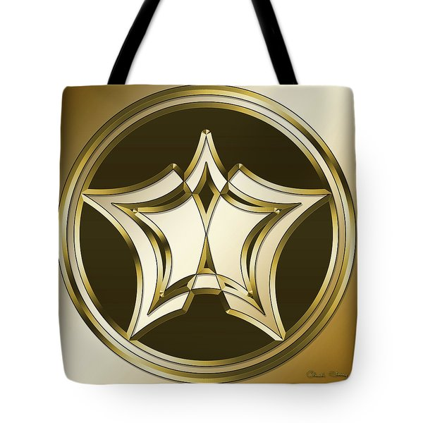 Tote Bag featuring the digital art Gold Coffee 12 by Chuck Staley