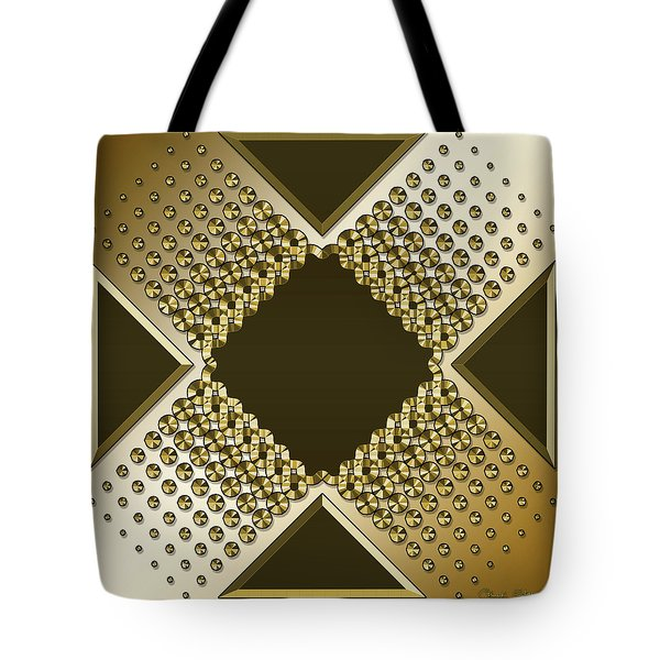 Tote Bag featuring the digital art Gold Coffee 9 by Chuck Staley