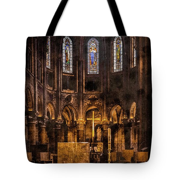 Paris, France - Gold Cross - St Germain Des Pres Tote Bag