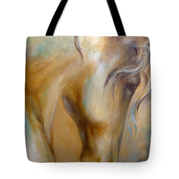 Tote Bag featuring the painting Gold Dust 1 by Dina Dargo