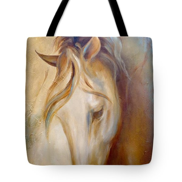 Tote Bag featuring the painting Gold Dust 2 by Dina Dargo