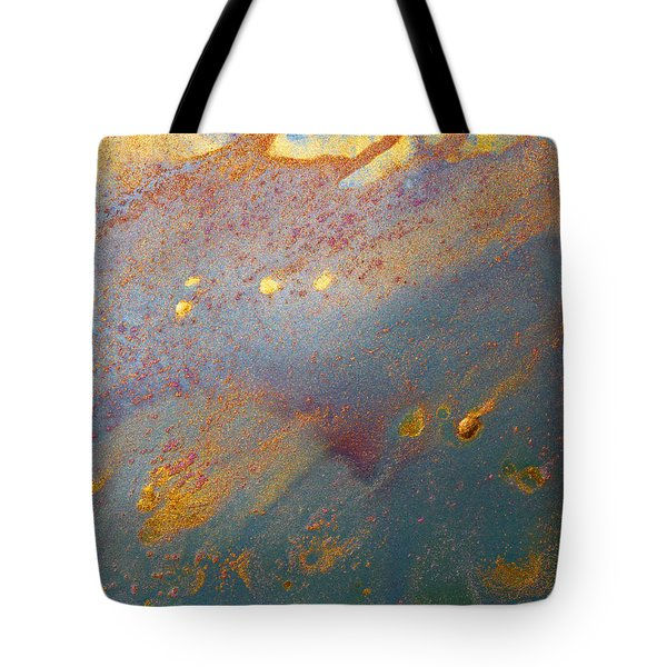 Gold Dust Abstract Painting Tote Bag