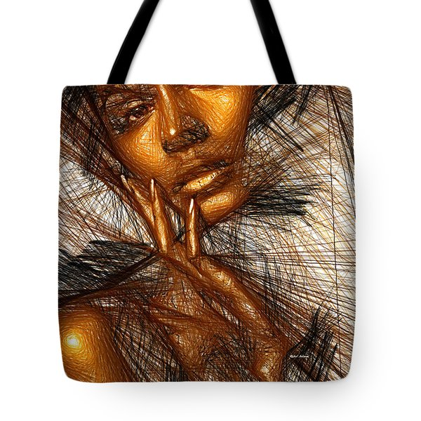 Gold Fingers Tote Bag by Rafael Salazar