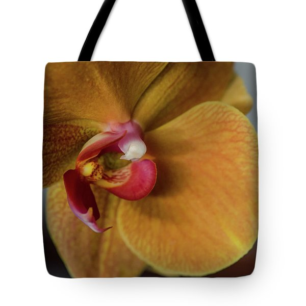 Gold Flower Blossom Tote Bag