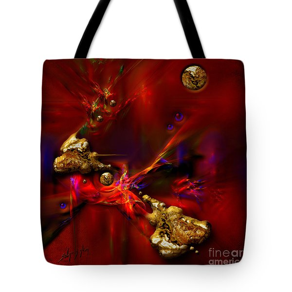 Tote Bag featuring the painting Gold Foundry by Alexa Szlavics