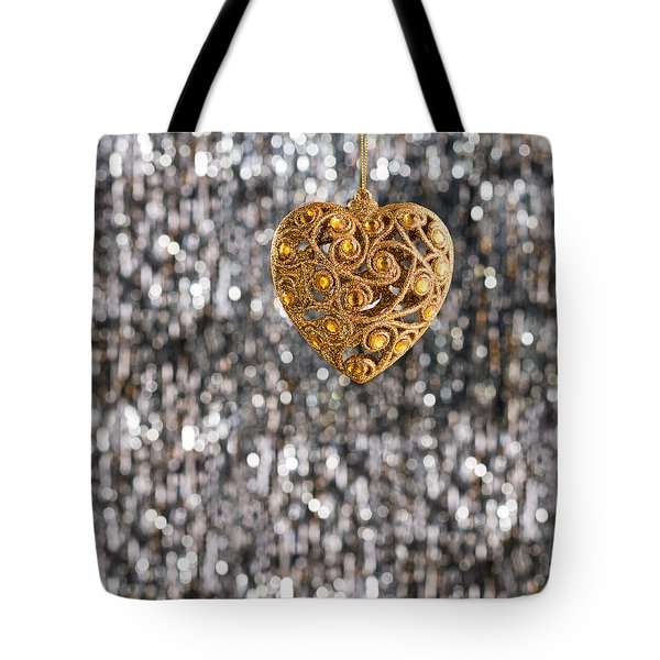 Tote Bag featuring the photograph Gold Heart  by Ulrich Schade