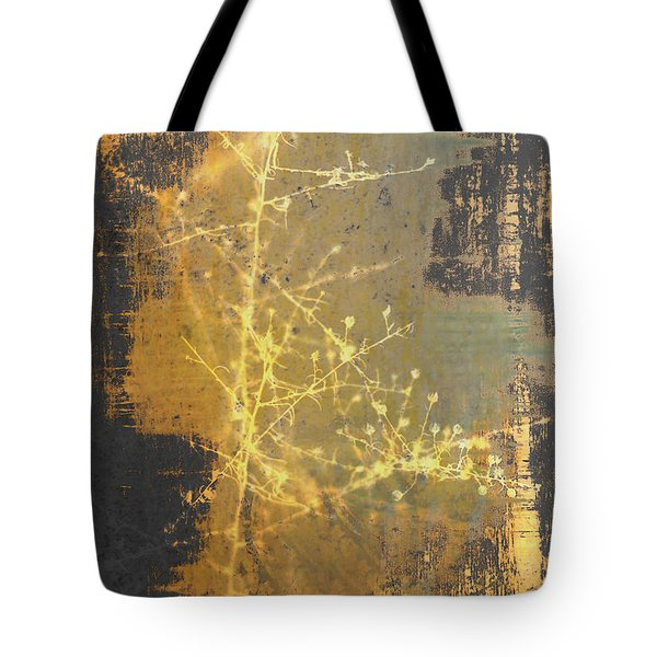 Gold Industrial Abstract Christmas Tree Tote Bag