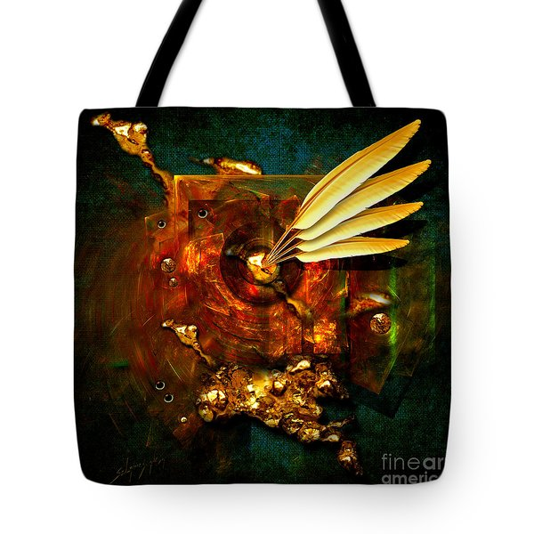 Tote Bag featuring the painting  Gold Inkpot by Alexa Szlavics