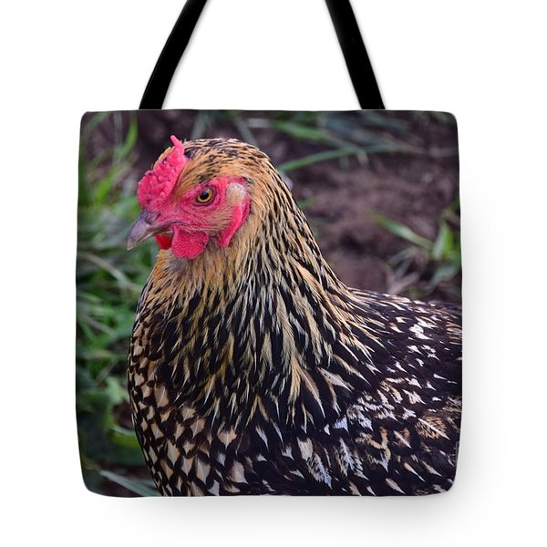Gold Laced Wyandotte Tote Bag