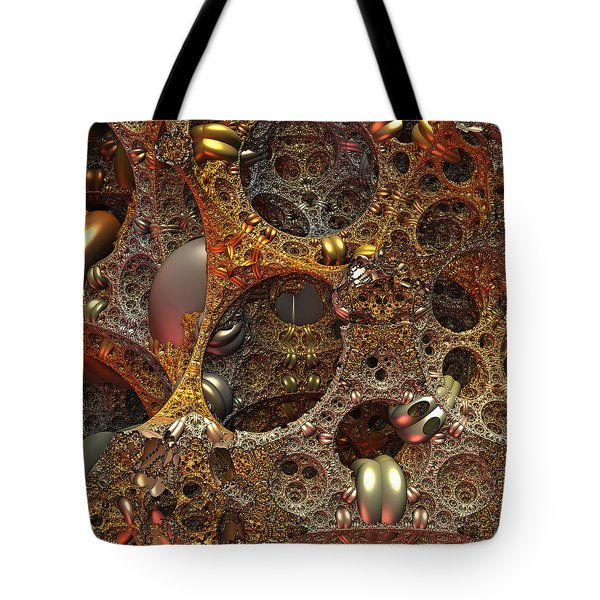 Tote Bag featuring the digital art Gold Mine by Lyle Hatch