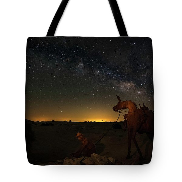 Gold Miner Milky Way 2  Tote Bag by Scott Cunningham