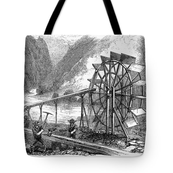 Gold Mining, 1860 Tote Bag by Granger