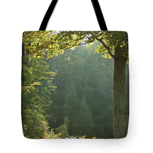 Gold On Green Tote Bag