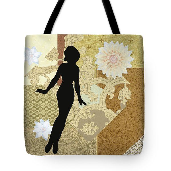 Gold Paper Doll Tote Bag