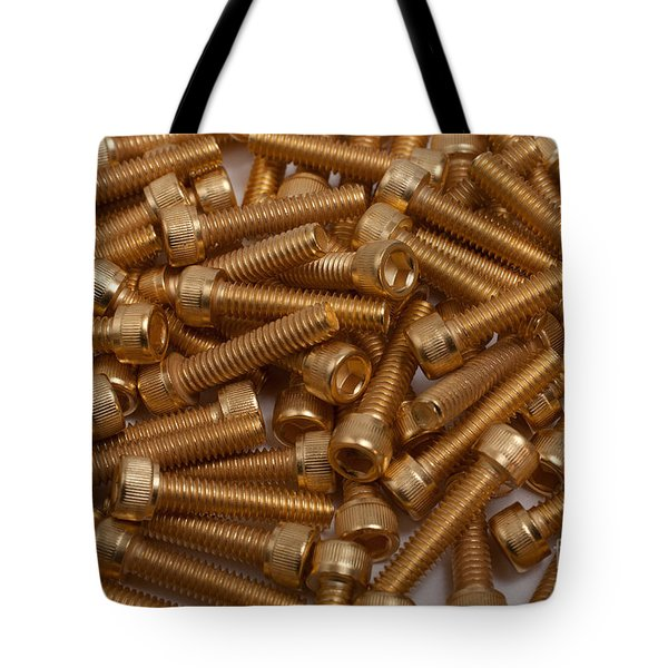Gold Plated Screws Tote Bag