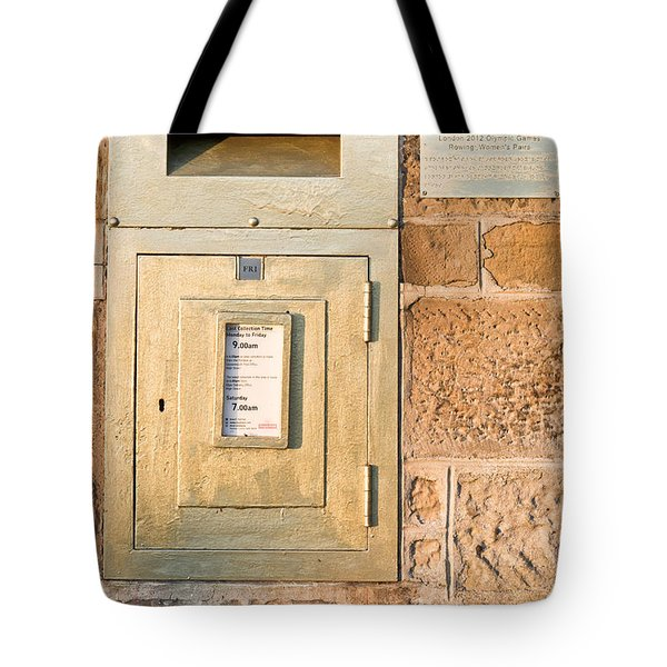 Gold Post Box Tote Bag