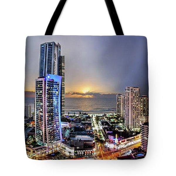 Gold Rising Tote Bag