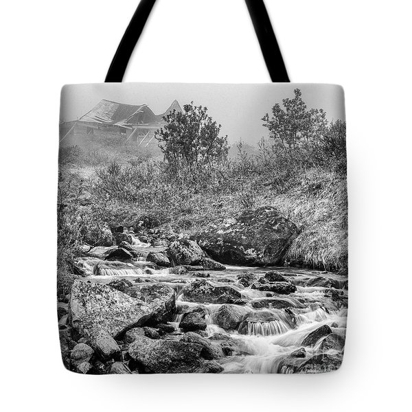 Gold Rush Mining Shack In The Alaskan Mountains Tote Bag