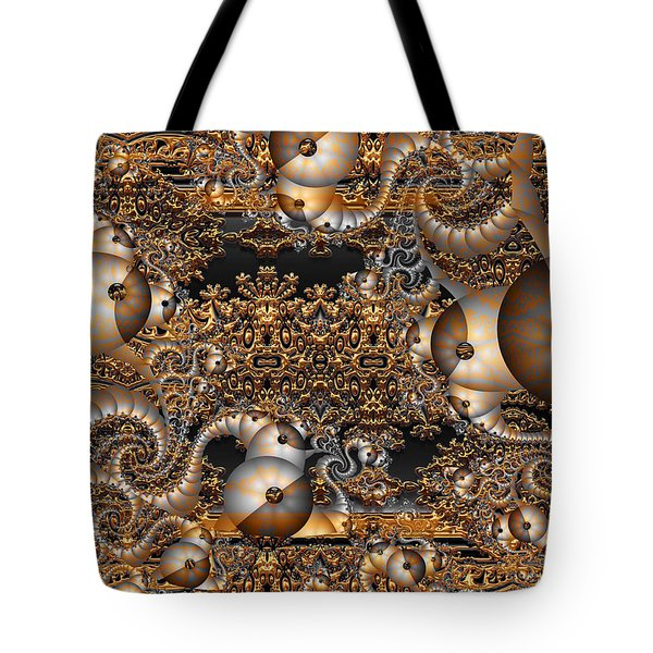 Tote Bag featuring the digital art Gold Rush by Robert Orinski