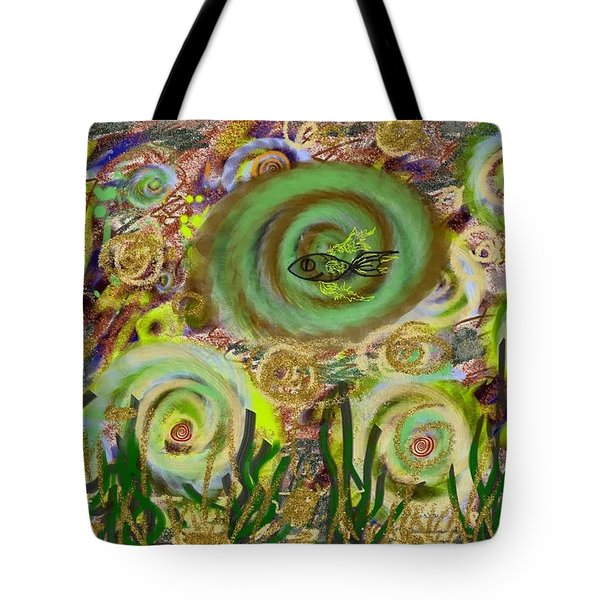 Gold Sand With Fish Illuminated Tote Bag