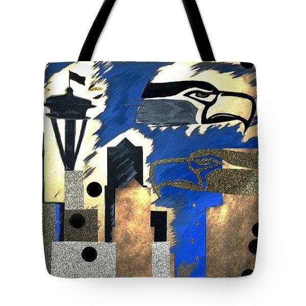 Gold Seatown Tote Bag