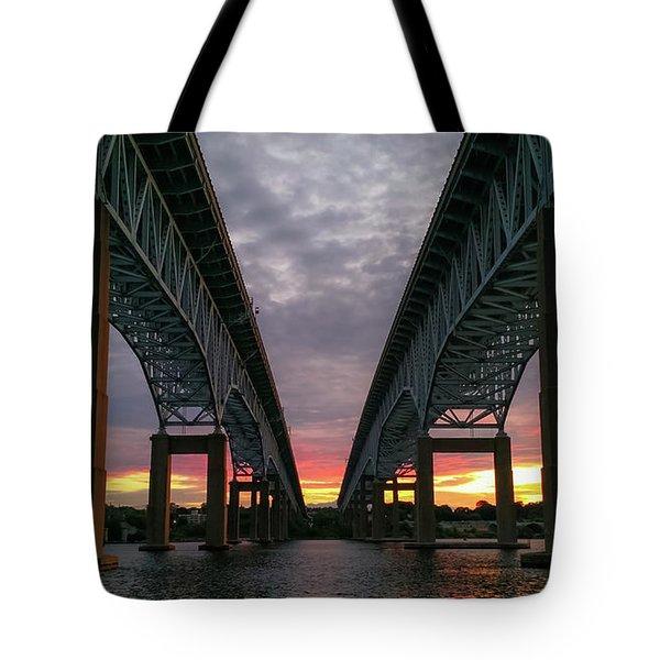 Gold Star Bridge Sunset 2016 Tote Bag