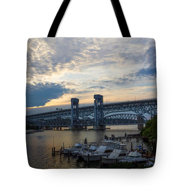 Gold Star Sunset Tote Bag