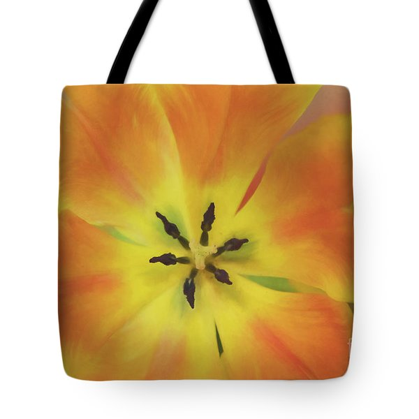 Tote Bag featuring the photograph Gold Tulip Explosion by Teresa Wilson