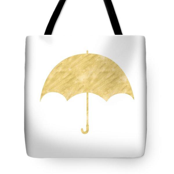 Gold Umbrella- Art By Linda Woods Tote Bag