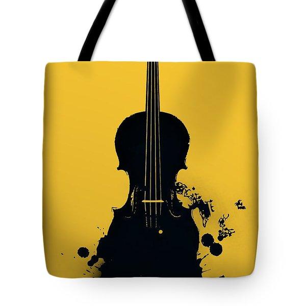 Gold Violin Tote Bag