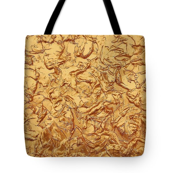 Gold Waves Tote Bag