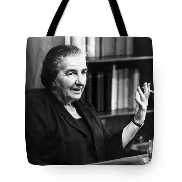 Golda Meir (1898-1978) Tote Bag by Granger