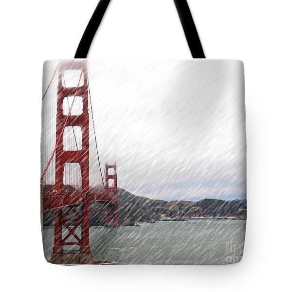 Golde Gate Rain Tote Bag