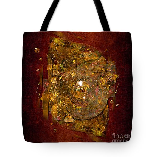 Tote Bag featuring the digital art Golden Abstract by Alexa Szlavics