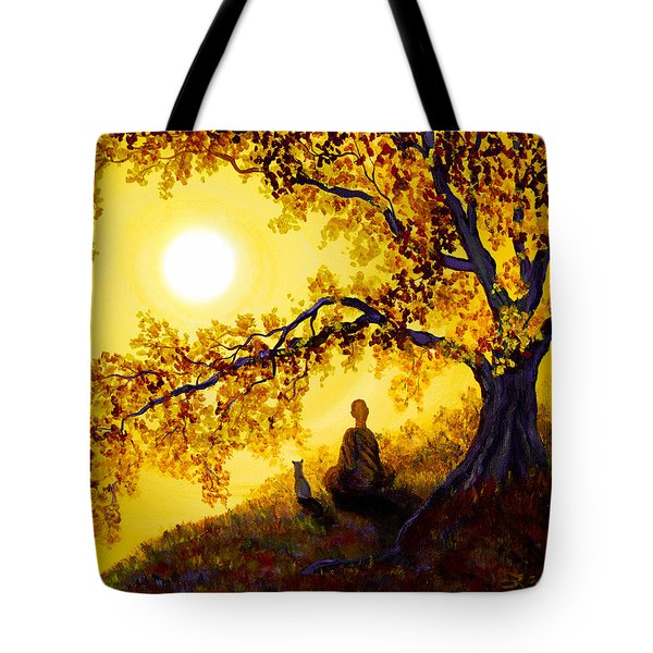 Golden Afternoon Meditation Tote Bag