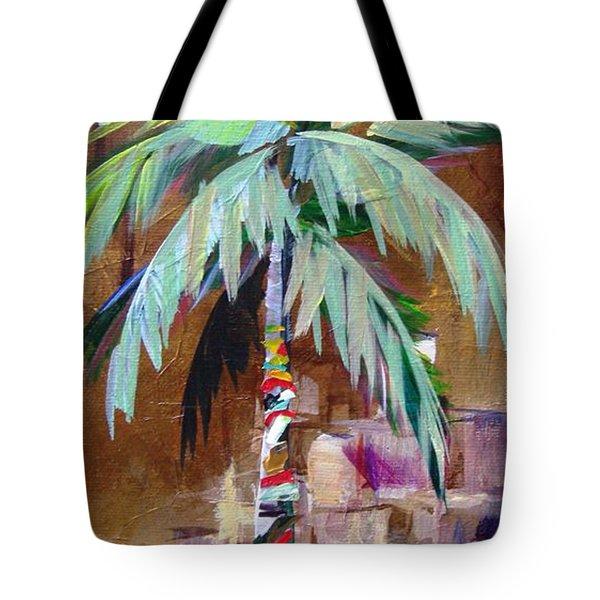 Golden Amethyst Palm Tote Bag