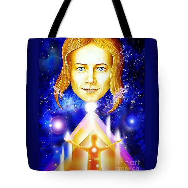 Tote Bag featuring the painting Golden Angel by Hartmut Jager