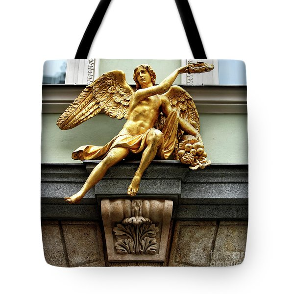 Golden Angel In Prague Tote Bag